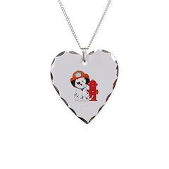 Dalmation Fire Dog Necklace