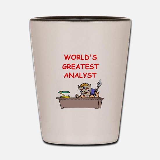 analyst Shot Glass