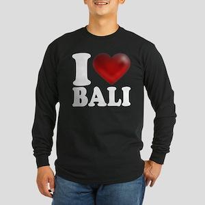 I Heart Bali Long Sleeve Dark T-Shirt