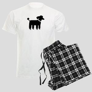 Black Poodle Men's Light Pajamas