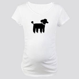 Black Poodle Maternity T-Shirt