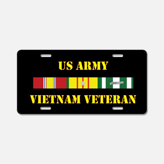 Army Vietnam Vet 5 Star Aluminum License Plate