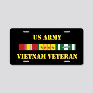 Army Vietnam Vet 4 Star Aluminum License Plate