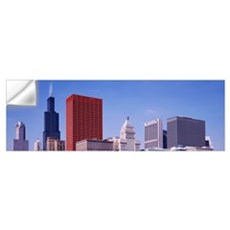 Skyline Chicago IL Wall Decal