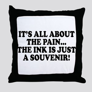 It's All About the Pain V1 Throw Pillow