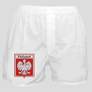 Poland Soccer Shield Boxer Shorts
