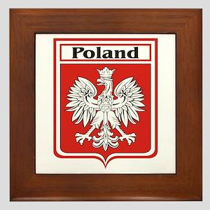 Poland Soccer Shield Framed Tile