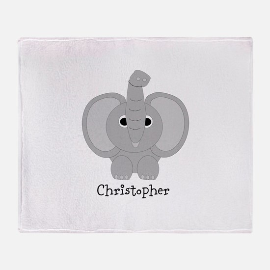 Personalized Elephant Design Throw Blanket