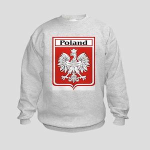 Poland Soccer Shield Kids Sweatshirt