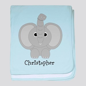 Personalized Elephant Design baby blanket