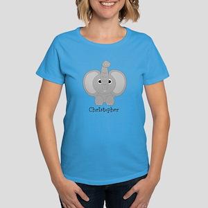 Personalized Elephant Design Women's Dark T-Shirt