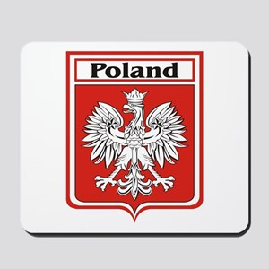 Poland Soccer Shield Mousepad