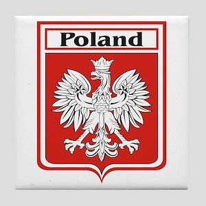 Poland Soccer Shield Tile Coaster