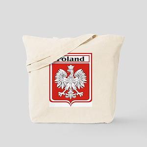 Poland Soccer Shield Tote Bag