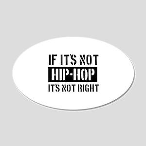 Cool Hip Hop designs 22x14 Oval Wall Peel