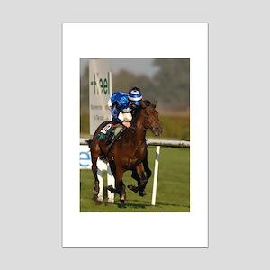 Racing Horse Mini Poster Print