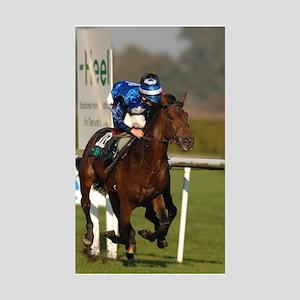 Racing Horse Sticker (Rectangle 10 pk)