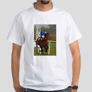 Racing Horse White T-Shirt