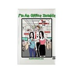 Office Zombie Rectangle Magnet