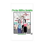 Office Zombie Sticker (Rectangle 10 pk)