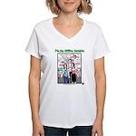 Office Zombie Women's V-Neck T-Shirt