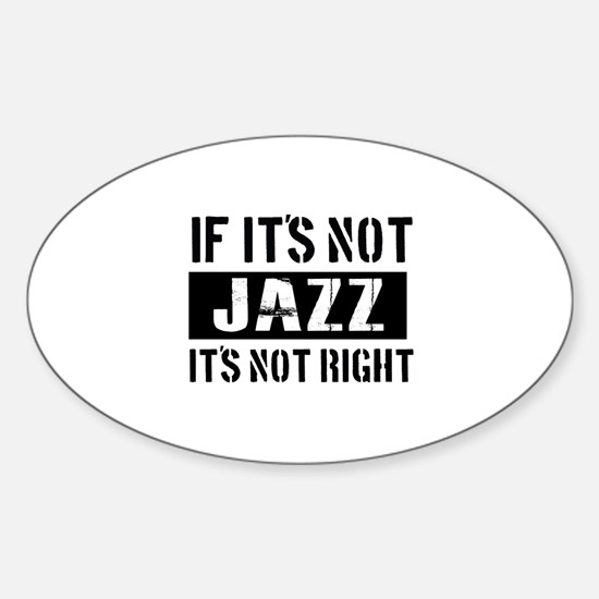 Cool Jazz designs Sticker (Oval)