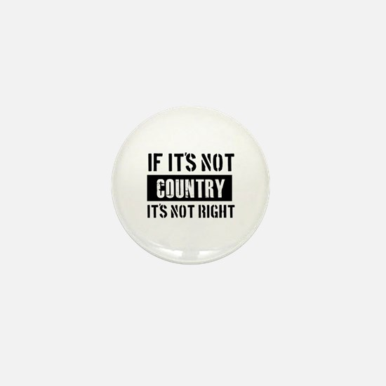 Cool Country designs Mini Button