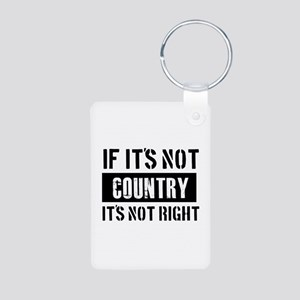 Cool Country designs Aluminum Photo Keychain