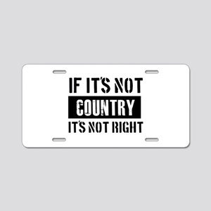 Cool Country designs Aluminum License Plate