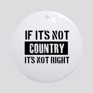 Cool Country designs Ornament (Round)