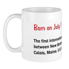Mug: First international phone call was made betwe