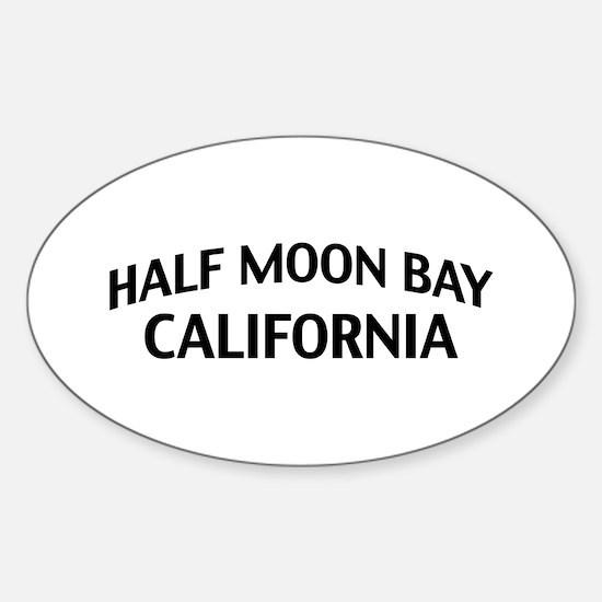 Half Moon Bay California Sticker (Oval)
