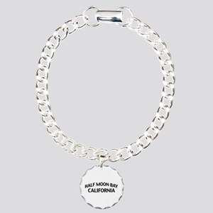 Half Moon Bay California Charm Bracelet, One Charm