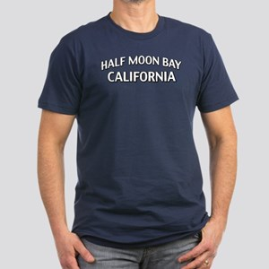 Half Moon Bay California Men's Fitted T-Shirt (dar