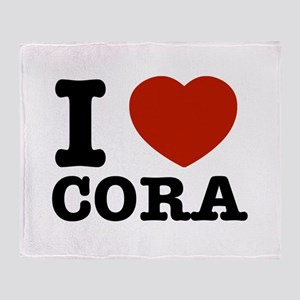 I love Cora Throw Blanket