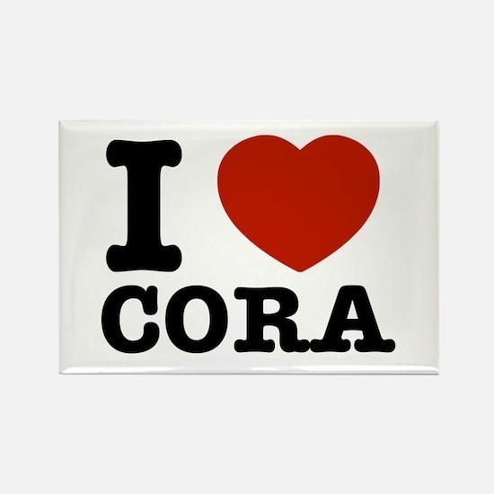 I love Cora Rectangle Magnet