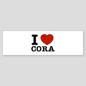 I love Cora Sticker (Bumper)