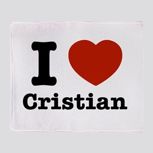 I love Cristian Throw Blanket