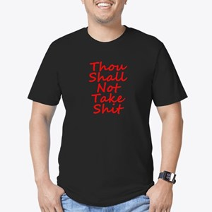 Thou shall not, Men's Fitted T-Shirt (dark)