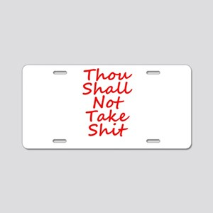 Thou shall not, Aluminum License Plate