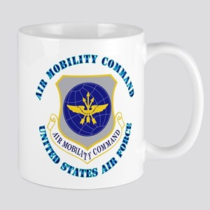 Air Mobility Command with Text Mug