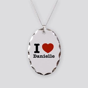 I love Danielle Necklace Oval Charm