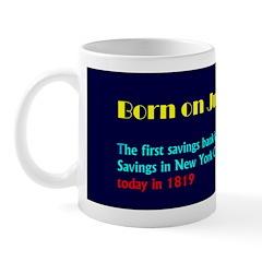 Mug: First savings bank in the U.S., the Bank of S