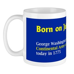 Mug: George Washington took command of the Contine