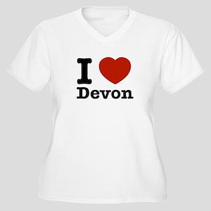 I love Devon Women's Plus Size V-Neck T-Shirt