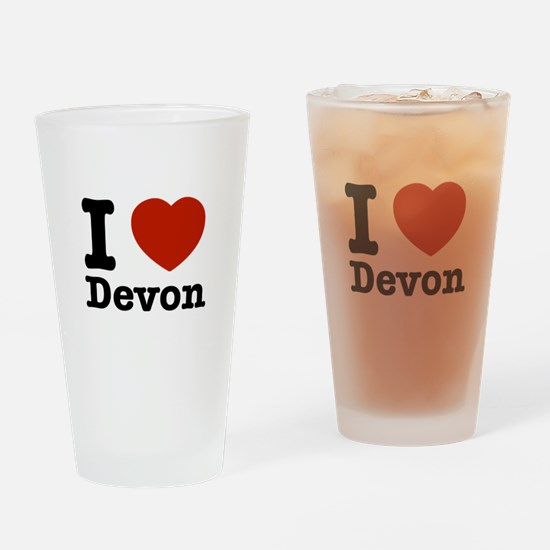 I love Devon Drinking Glass