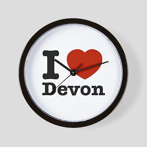 I love Devon Wall Clock