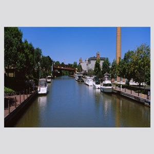 Boats in a canal, Erie Canal, Fairport, New York S