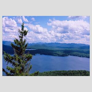 High angle view of a lake, Piseco Lake, Adirondack