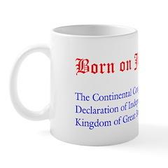 Mug: Continental Congress approved a Declaration o